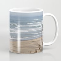cape cod Mugs featuring Cape Cod Beach by Heidi Ingram