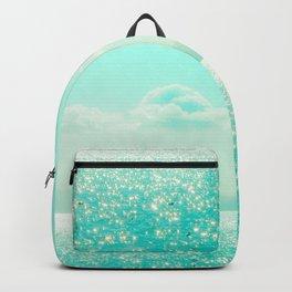 Winter Aqua Sparkling Seashore Backpack
