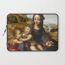 "Fernando Yáñez de la Almedina ""The Virgin with Child and Little (Infant) Saint John [the Baptist]"" Laptop Sleeve"