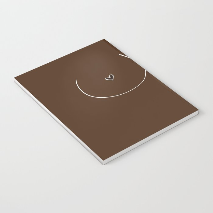 Boobs - Dark Brown Notebook