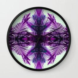 purple fern Wall Clock