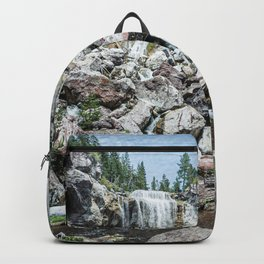Rock Land Waterfall // Natural Beauty Wilderness Photography Decoration Backpack