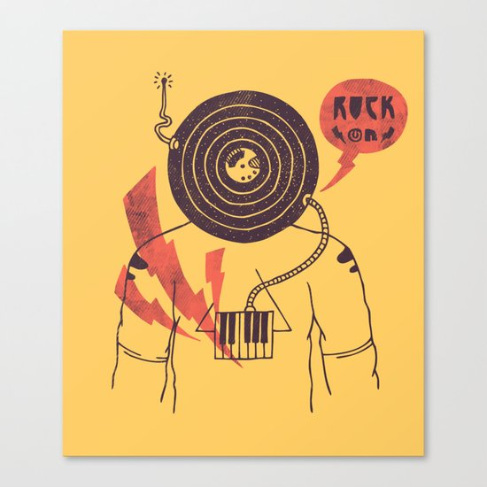 The Vinyl Frontier (alternate) Canvas Print