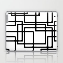 Interlocking Black Squares Artistic Design Laptop & iPad Skin