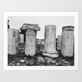 Ruined columns at the Parthenon Art Print