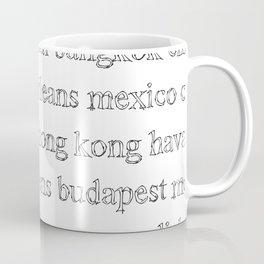 Major World Cities Coffee Mug