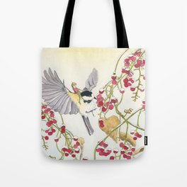 The Elfling and the Chickadee Tote Bag