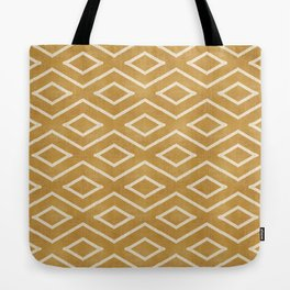 Stitch Diamond Tribal in Gold Tote Bag
