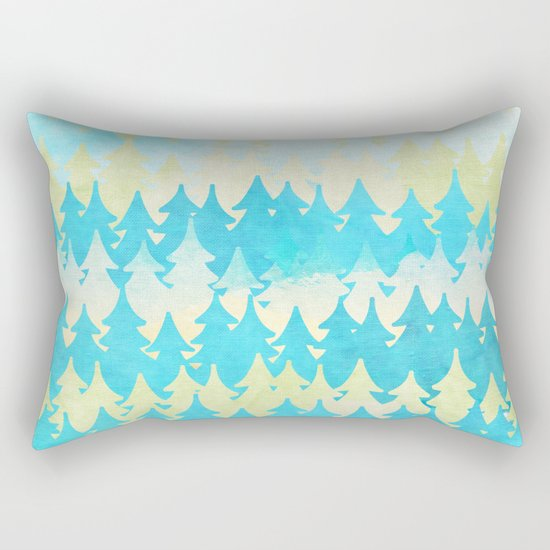 The secret forest -on a wonderful day - Abstract tree pattern Rectangular Pillow