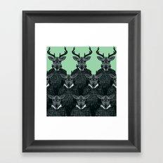 Chorus of Deer Framed Art Print