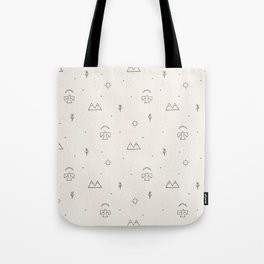 Death Valley in Ivory and Clay Tote Bag