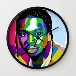 Pop Smoke Graphic Wall Clock