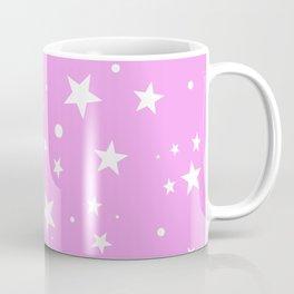 Light Pink Starry Sky Cute white stars pattern gift face mask Coffee Mug