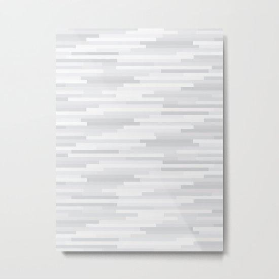 White Estival Mirage Metal Print