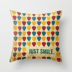 Just Smile. Throw Pillow