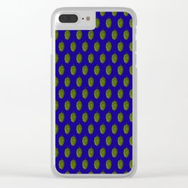Hops Blue Pattern Clear iPhone Case