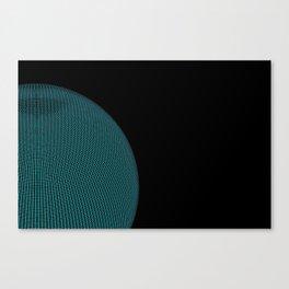 Wire Globe Half Blue Canvas Print