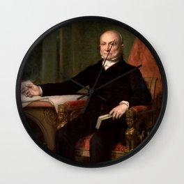 President John Quincy Adams Painting Wall Clock