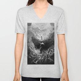 Gustave Doré's The Last Judgement Unisex V-Neck
