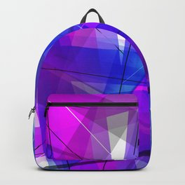 Transparent Shapes Blue and Pink Geometric Abstract Art Backpack