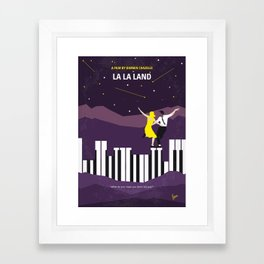 No756 My La La Land minimal movie poster Framed Art Print