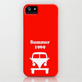 Summer 1969 - red iPhone Case