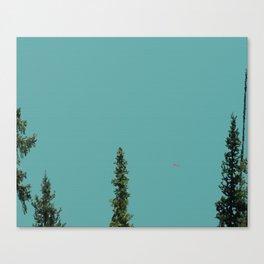 Canoe on Lake Louise Canvas Print