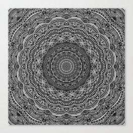 Zen Black and white mandala Sophisticated ornament Canvas Print
