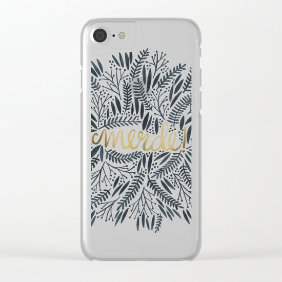 Pardon My French – Black & Gold Clear iPhone Case