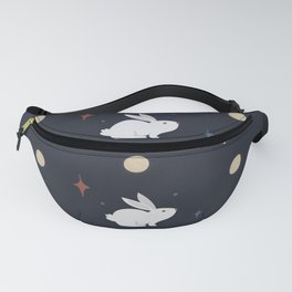 Bunnies on the Moon (Patterns Please) Fanny Pack