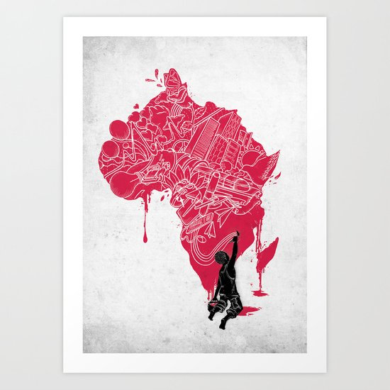 RE | Draw AFRIKA Art Print