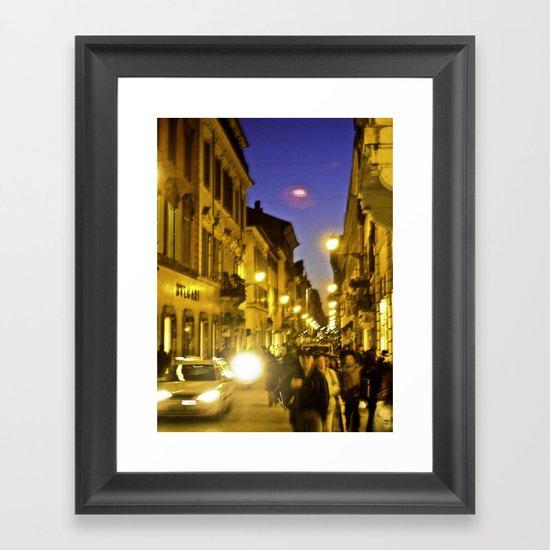 Piazza de Spagna Framed Art Print