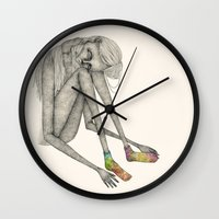 socks Wall Clocks featuring Favorite socks by auntikatar