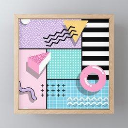 Memphis Party Framed Mini Art Print
