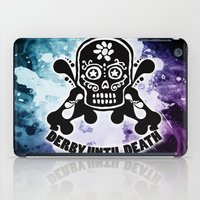 roller derby iPad Cases featuring Roller Derby Por Vida by Mean Streak