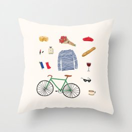 Paris, or Wherever We Are Throw Pillow