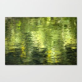 Green Water Abstract Art Canvas Print