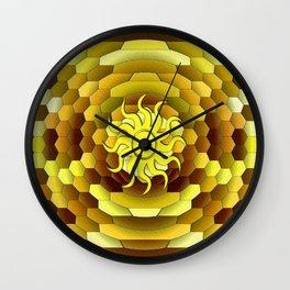 Golden Summer Day Wall Clock