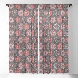 MCM Flower Power Sheer Curtain