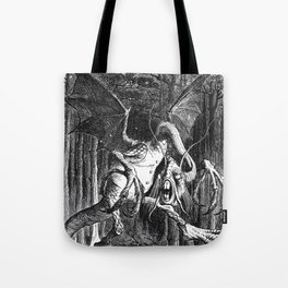 Jabberwocky Illustration from Alice in Wonderland Tote Bag