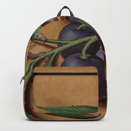 Monkeys, plums and sleeping caterpillar Backpack