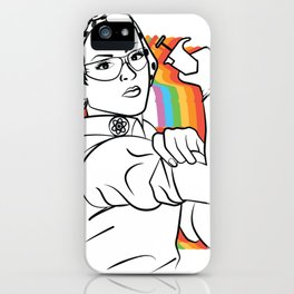 Rosie (rainbow) iPhone Case