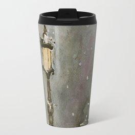 Lamp Post in Blue Travel Mug