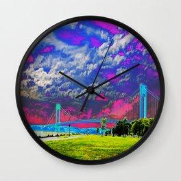 Verrazano Bridge  Wall Clock