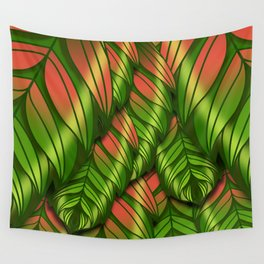 The Dusk Plumed Leaf Wall Tapestry