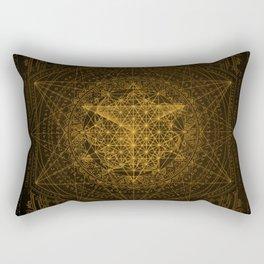 Dark Matter - Gold - By Aeonic Art Rectangular Pillow