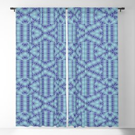 1907 Pattern by patterns bluish Blackout Curtain