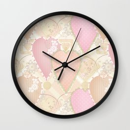 Retro . Valentine's Day . Wall Clock