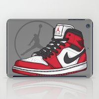 chicago bulls iPad Cases featuring Jordan 1 OG (Chicago) by Pancho the Macho