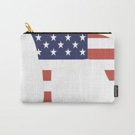 American-Hairless-Terrier-tshirt,-patriotic-American-Hairless-Terrier Carry-All Pouch